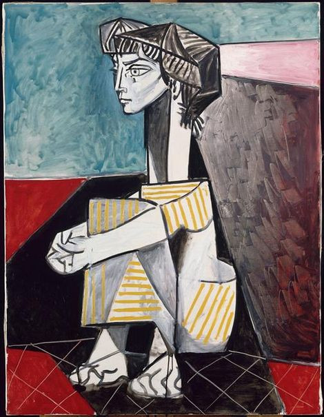 Jaqueline with Crossed Hands, 1954, by Picasso