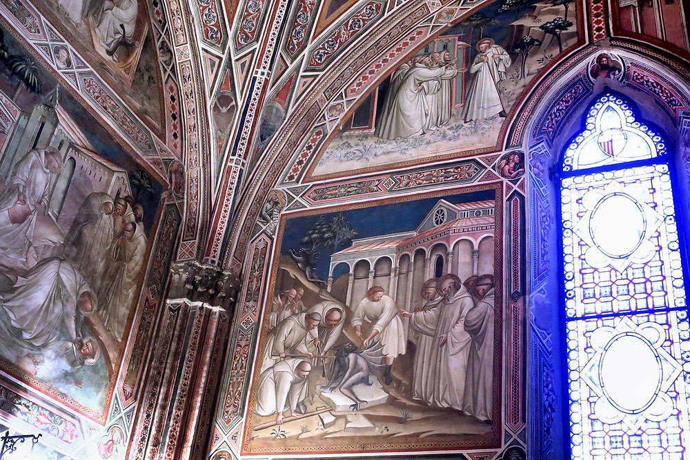 frescos in the sacristy by Spinello Aretino
