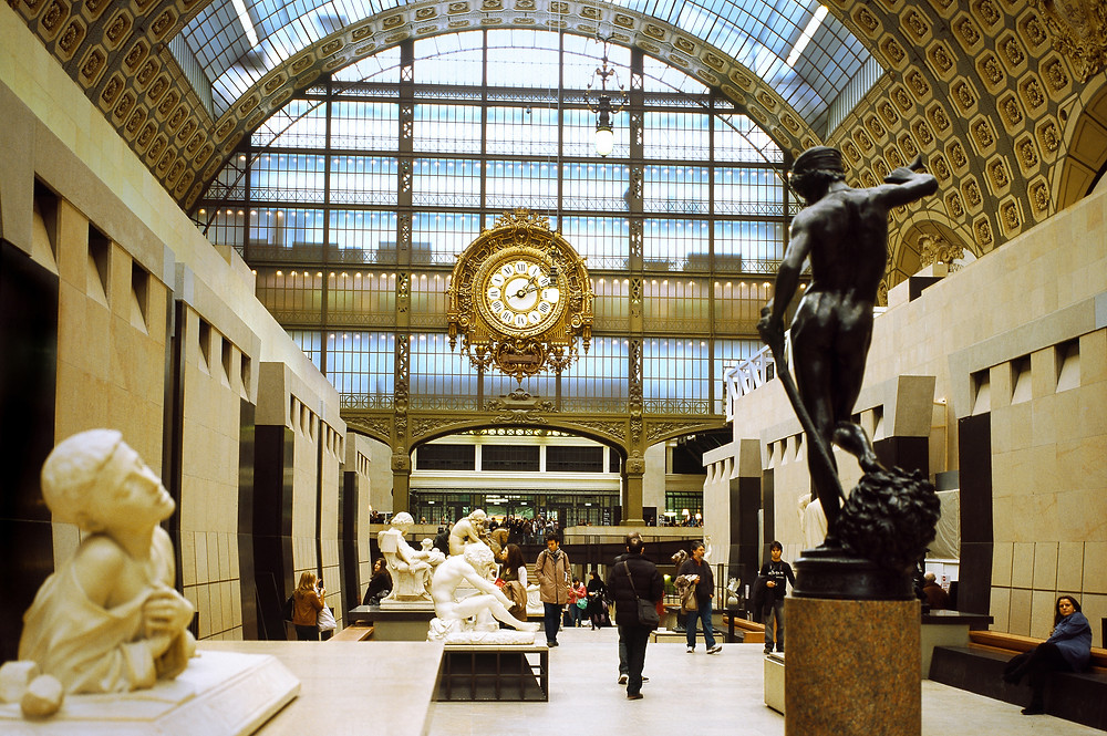 sculpture hall of the Musee d'Orsay in Paris