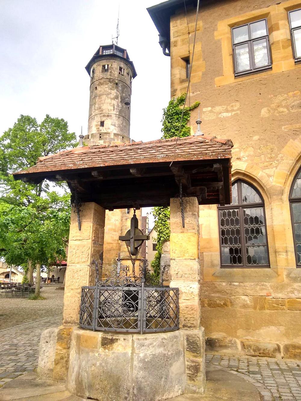 fountain at Altenberg Castle