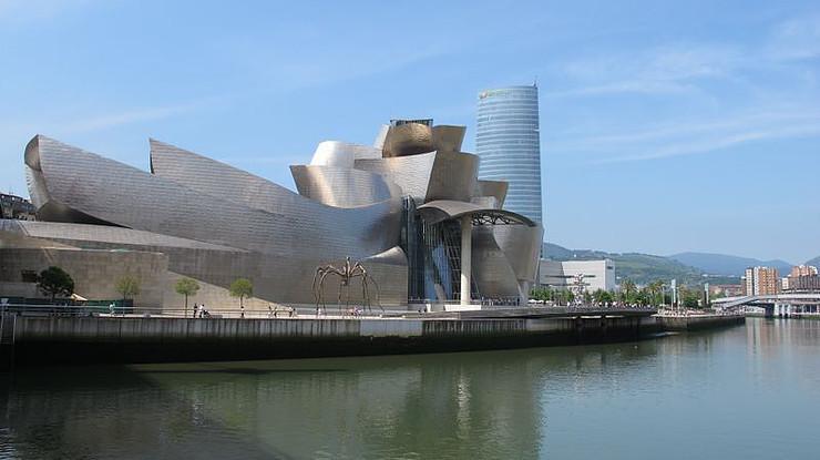 the Guggenheim Museum in Bilbao Spain