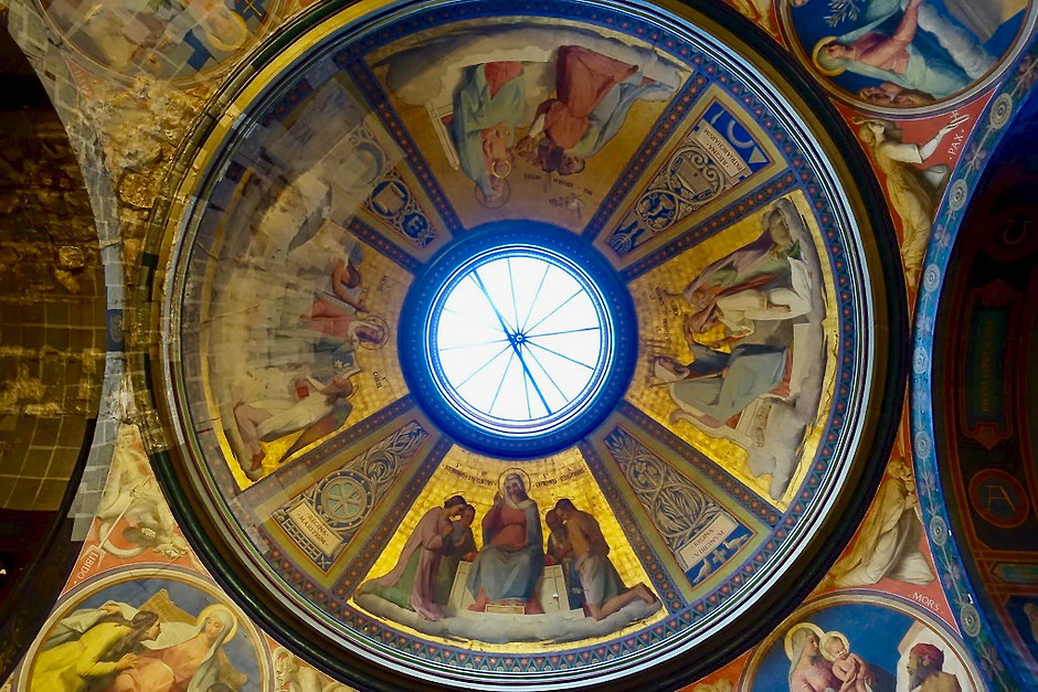 domed ceiling of Notre Dame-de-Lorette