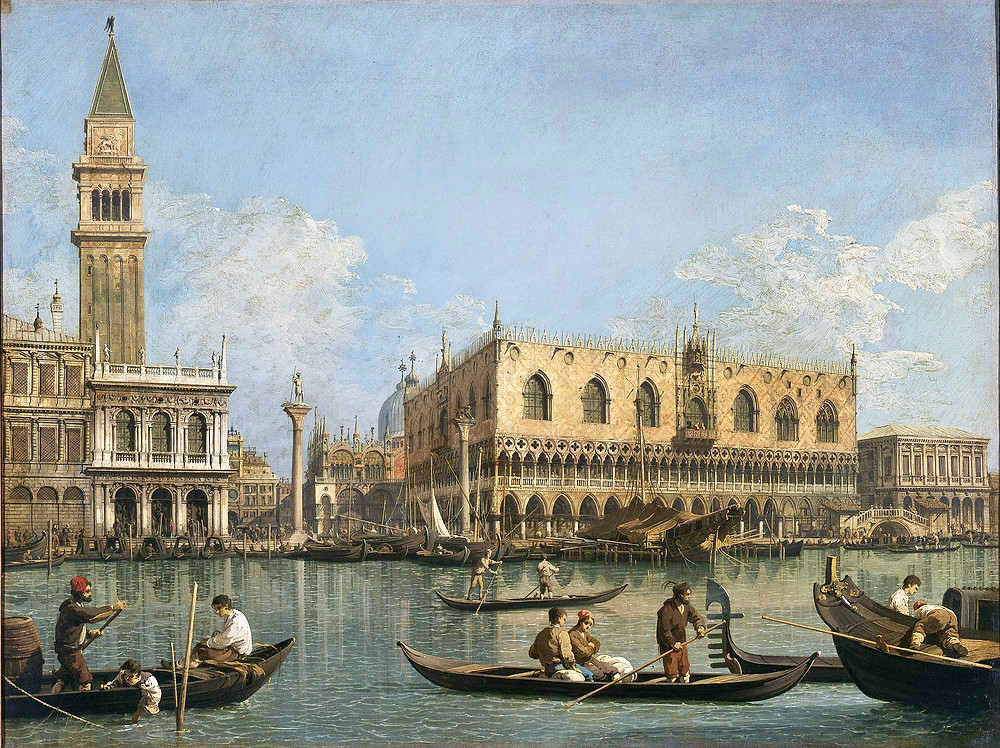 Canalletto, View of the Basin of San Marco from the Punta della Dogana, 1740-45