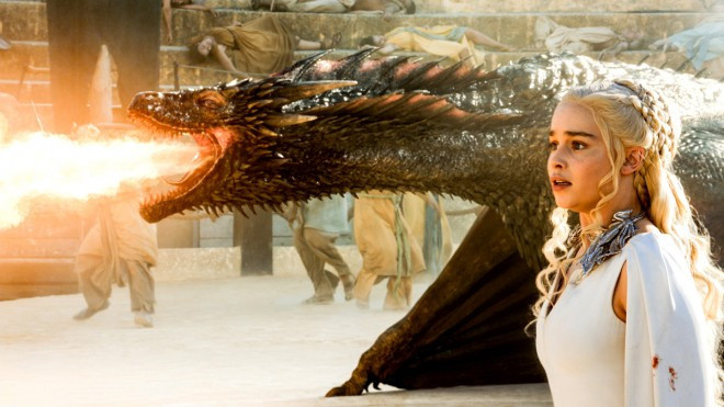 Dragon and Daenerys in the Osuna bullring