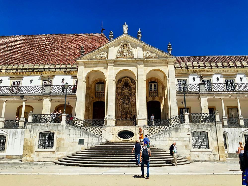 entrance to the Royal Palace at Coimbra University vis the Via Latina staircase.