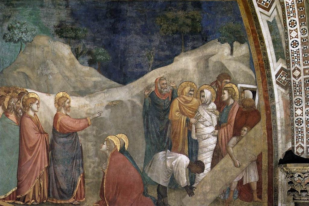 Christ raising Lazarus, by Giotto or his workshop