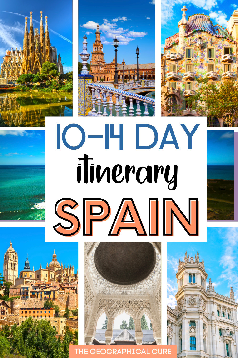 epic 10-14 day itinerary for Spain