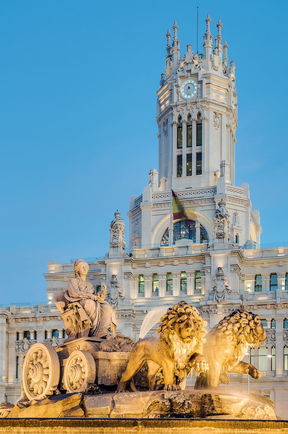 Cibeles Fountain in Cibeles Plaza in Madrid