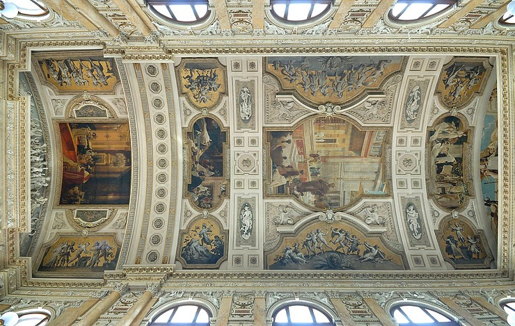 Klimt frescos in the Burgtheater