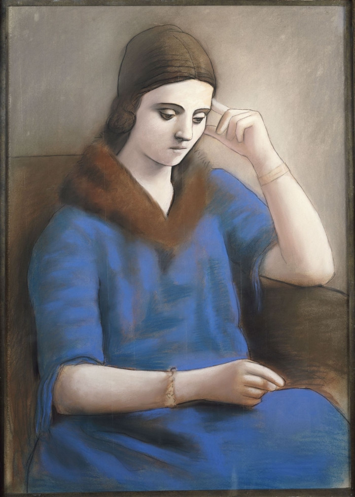 Olga Pensive, 1923, by Pablo Picasso