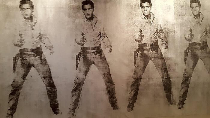 Andy Warhol, detail Elvis Eleven Times. 1963