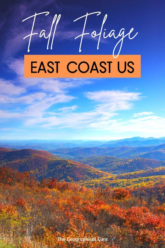 Where To See Fall Foliage on the East Coast USA
