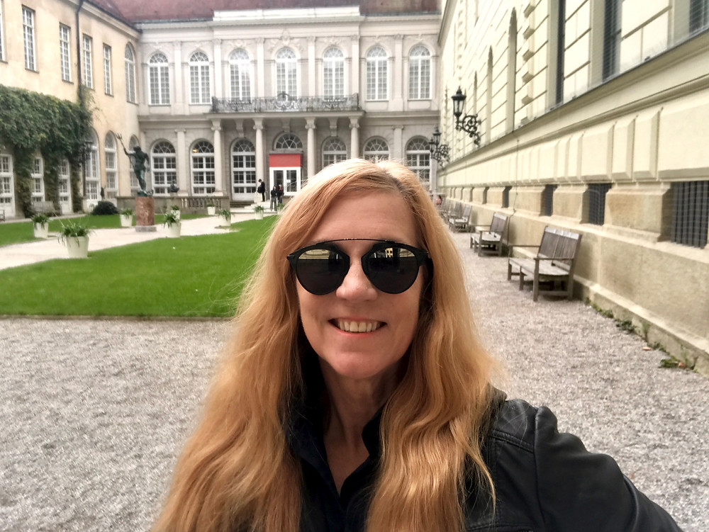 hanging out in a courtyard at the Munich Residenz