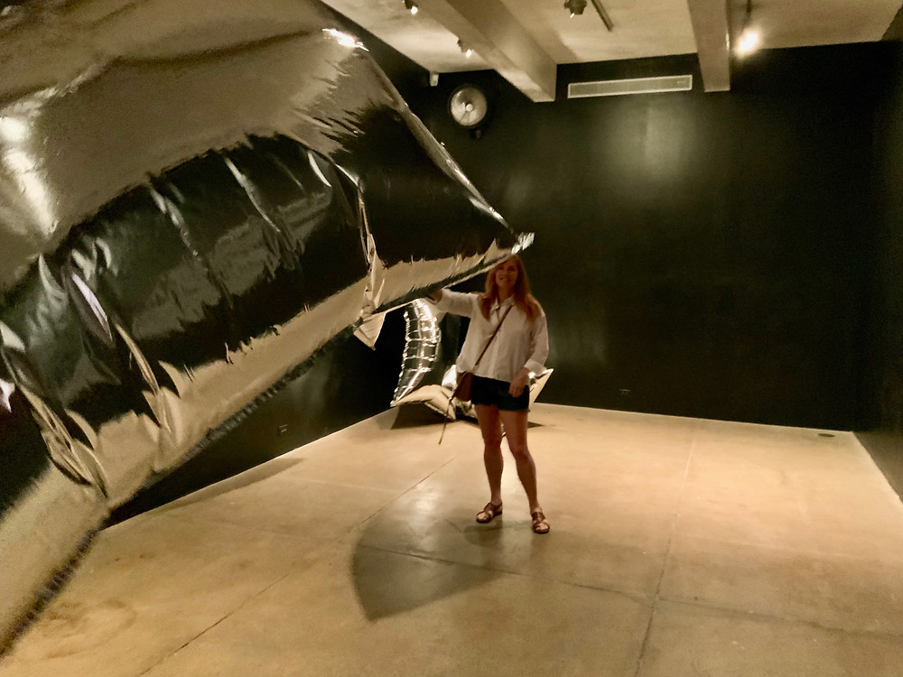 me playing in the Silver Clouds room of the Andy Warhol Museum in Pittsburgh