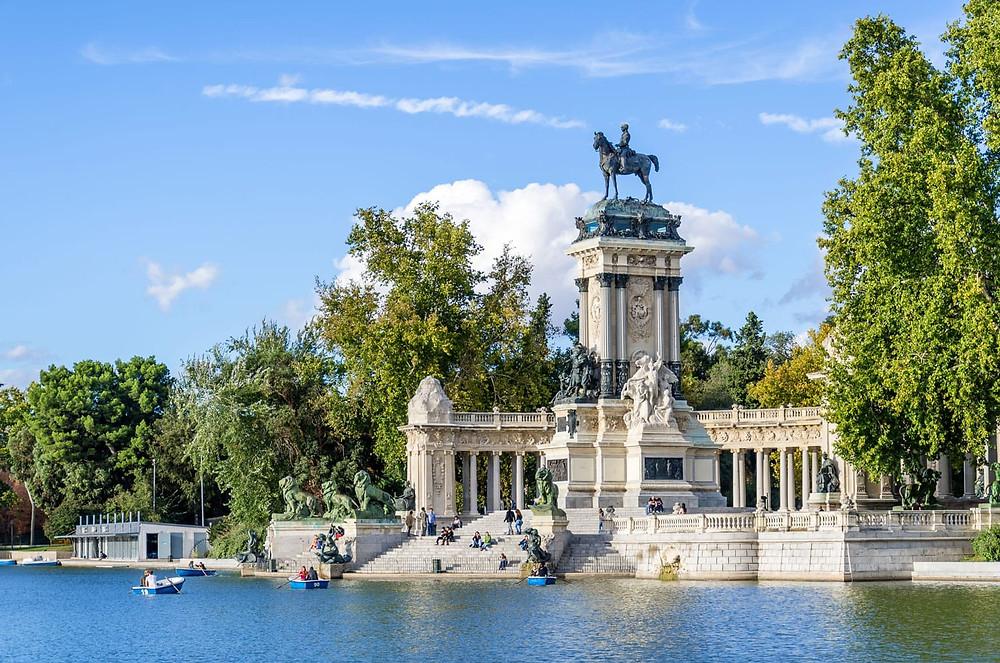 El Retiro Gardens in Madrid