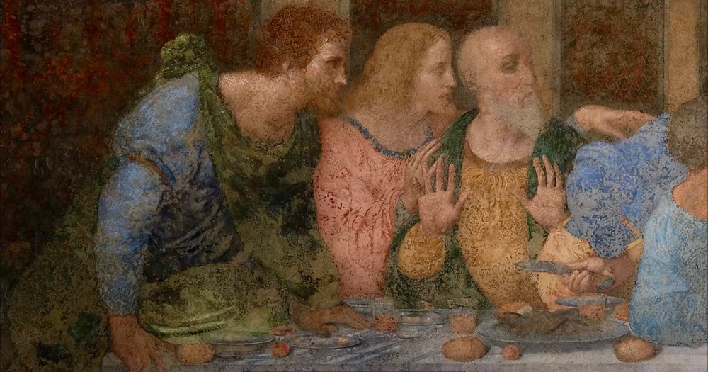 detail of Leonardo da Vinci's The Last Supper