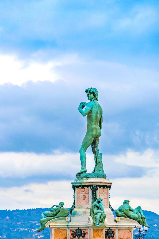 Piazzale Michelangelo, with a copy of Michelangelo's David statue