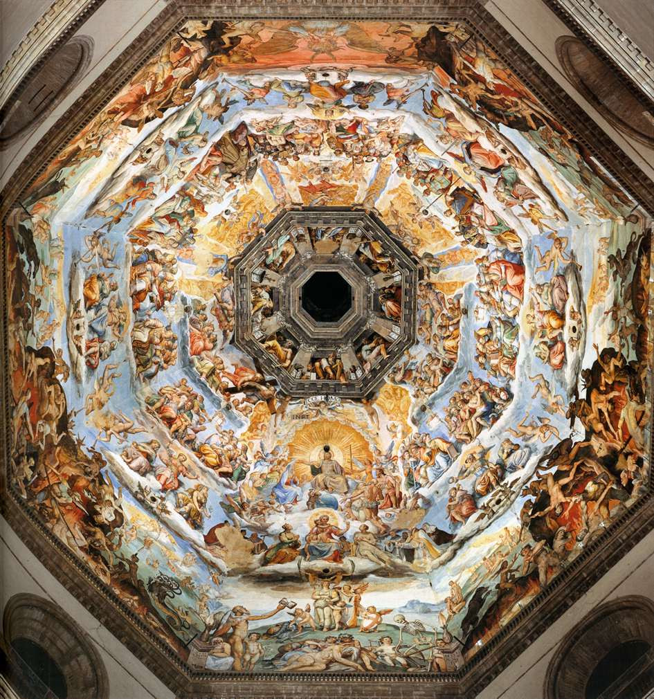 Giorgio Vasari frescos in the cupola of Brunelleschi's dome