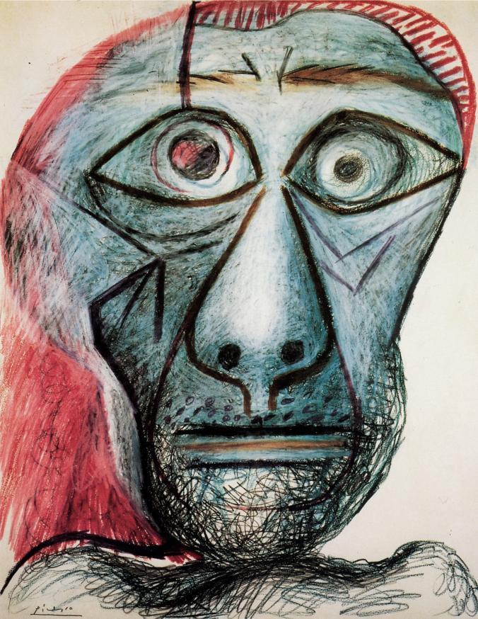Pablo Picasso, Self Portrait at 90