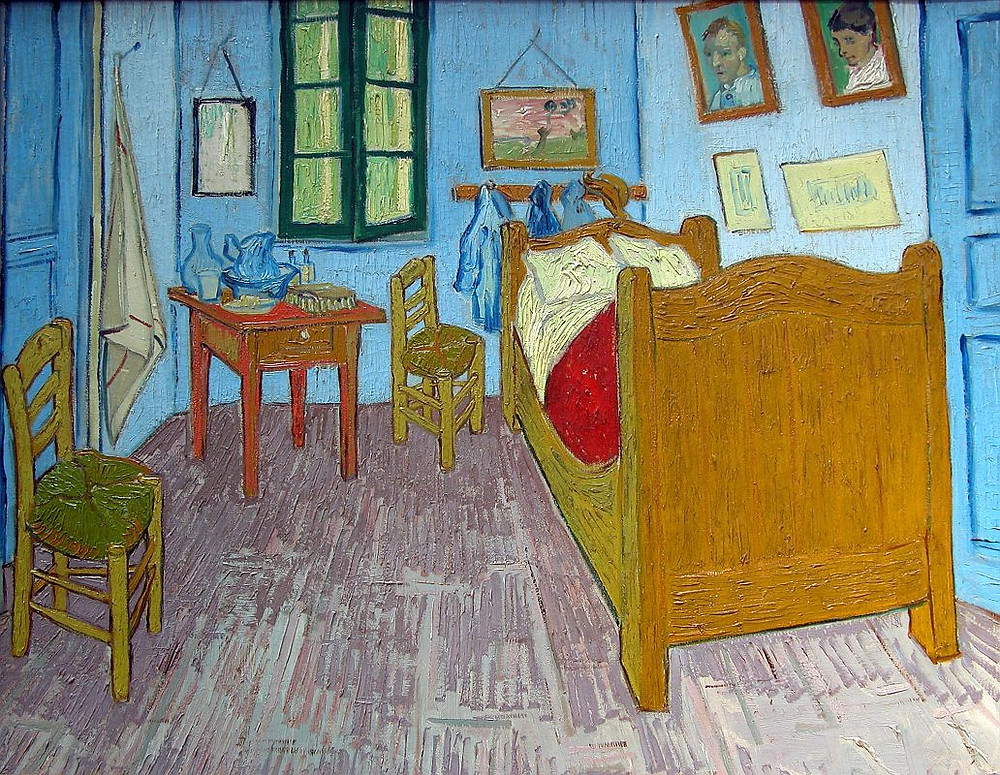 Vincent Van Gogh, The Bedroom, 1889, in the Musee d'Orsay in Paris
