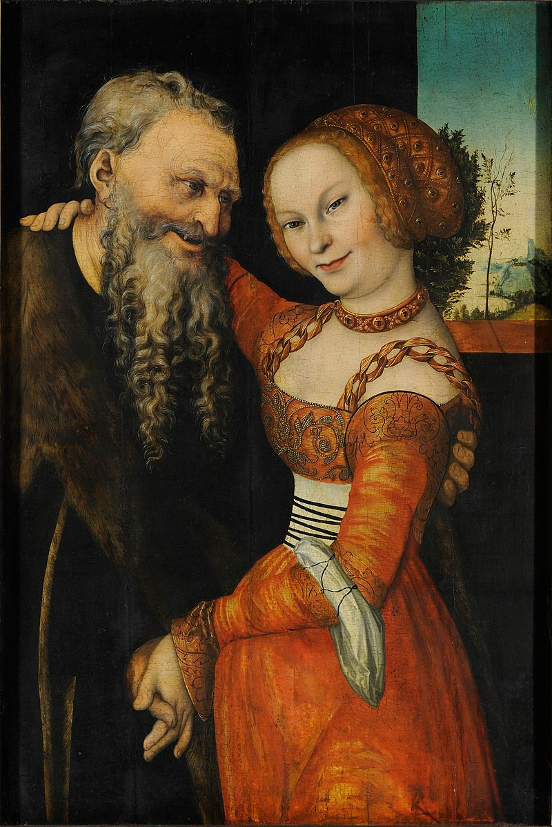An Ill-Matched Pair, Lucas Cranach the Elder, 1530 -- my favorite Cranach there!
