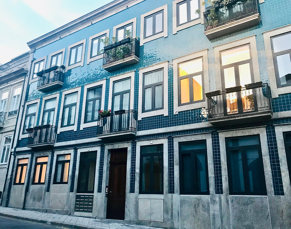 our Air Bnb building in Porto