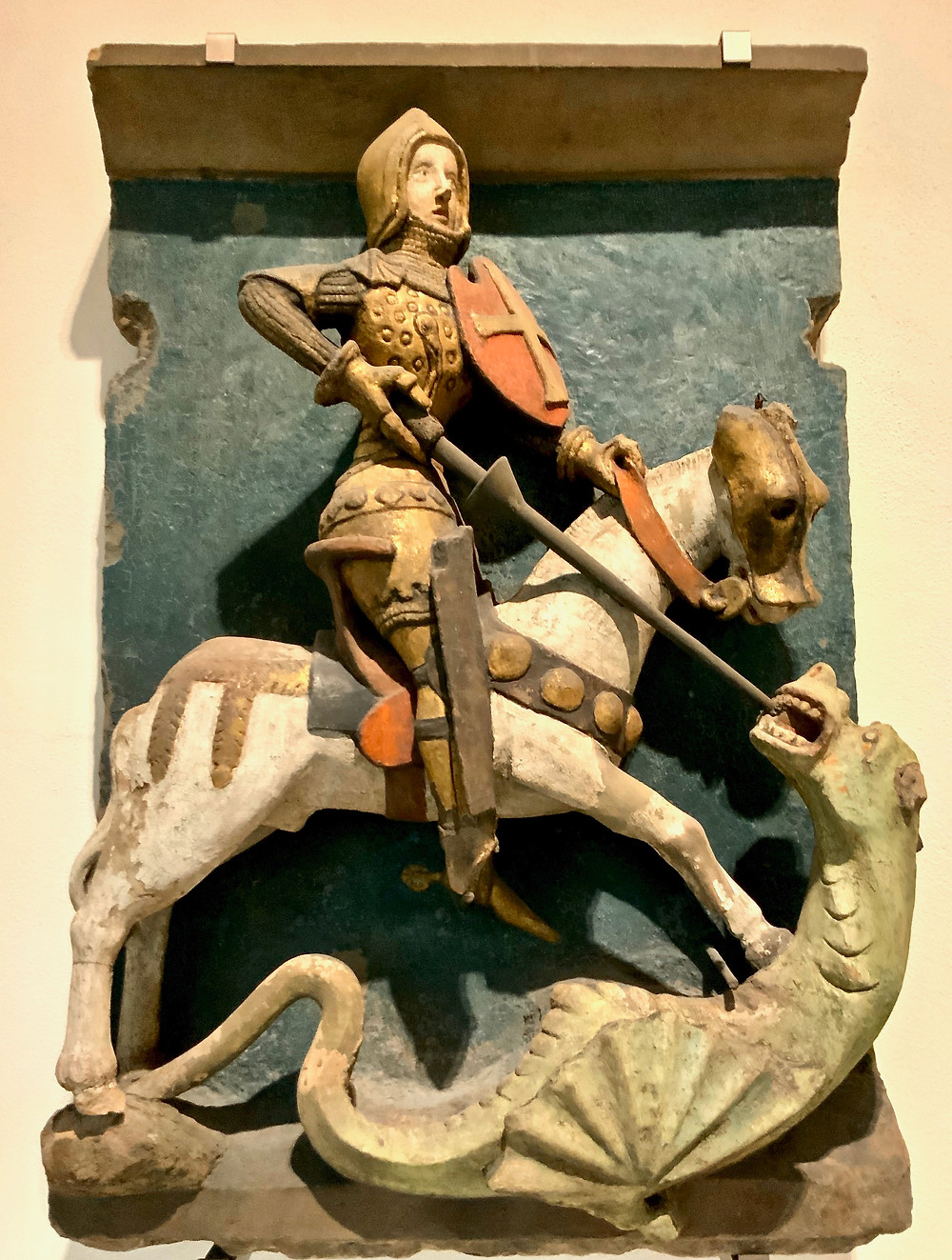 Ubiquitous St. George slaying the dragon. Every European country seems to claim St. George