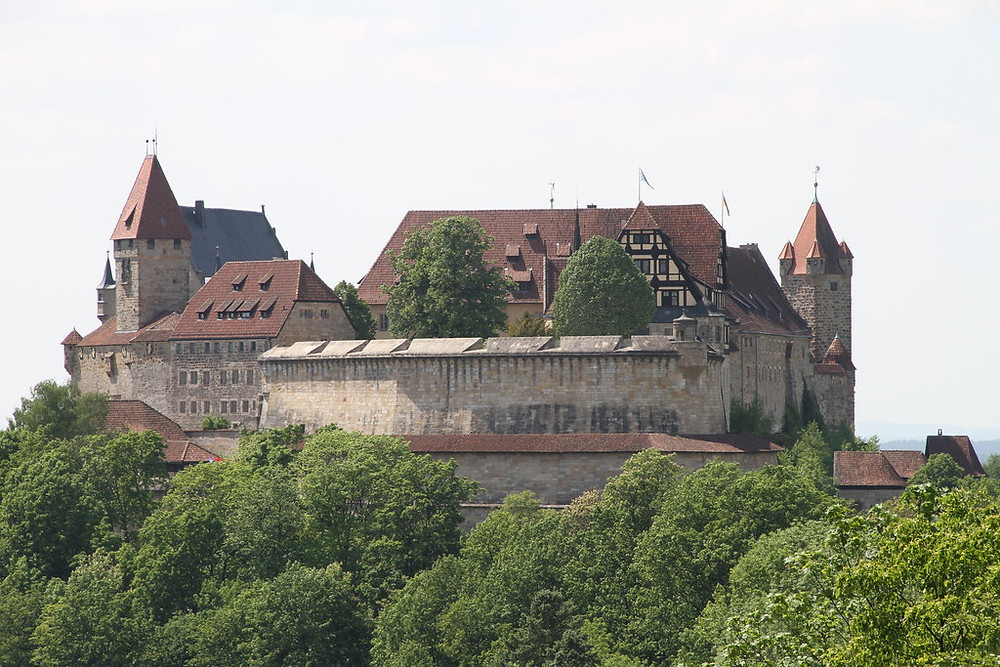 Veste Coburg, a great German castle in Coburg, 30 minutes north of Bamberg