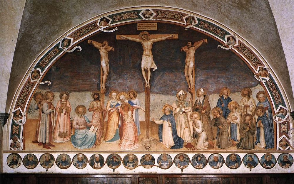 Fra Angelico, The Crucifixion with Saints, 1441 at San Marco Monastery