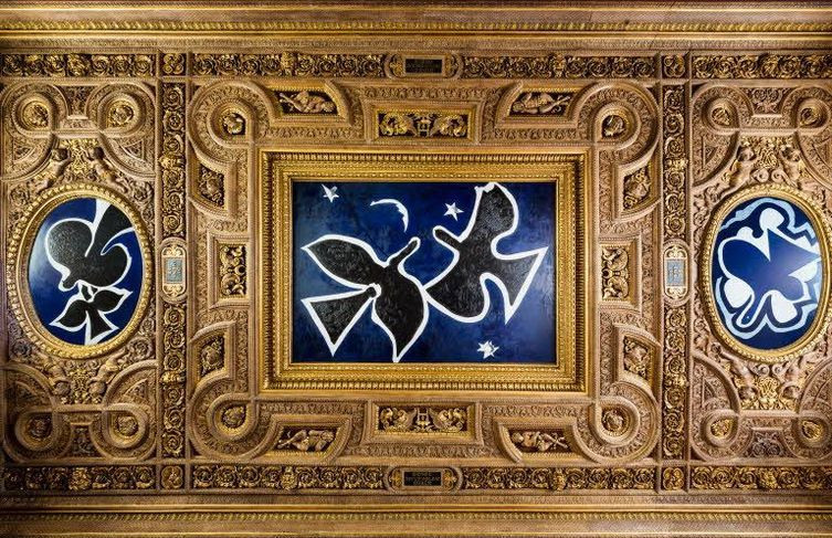 George Braque, The Birds, 1953 -- another modern art ceiling in the Louvre