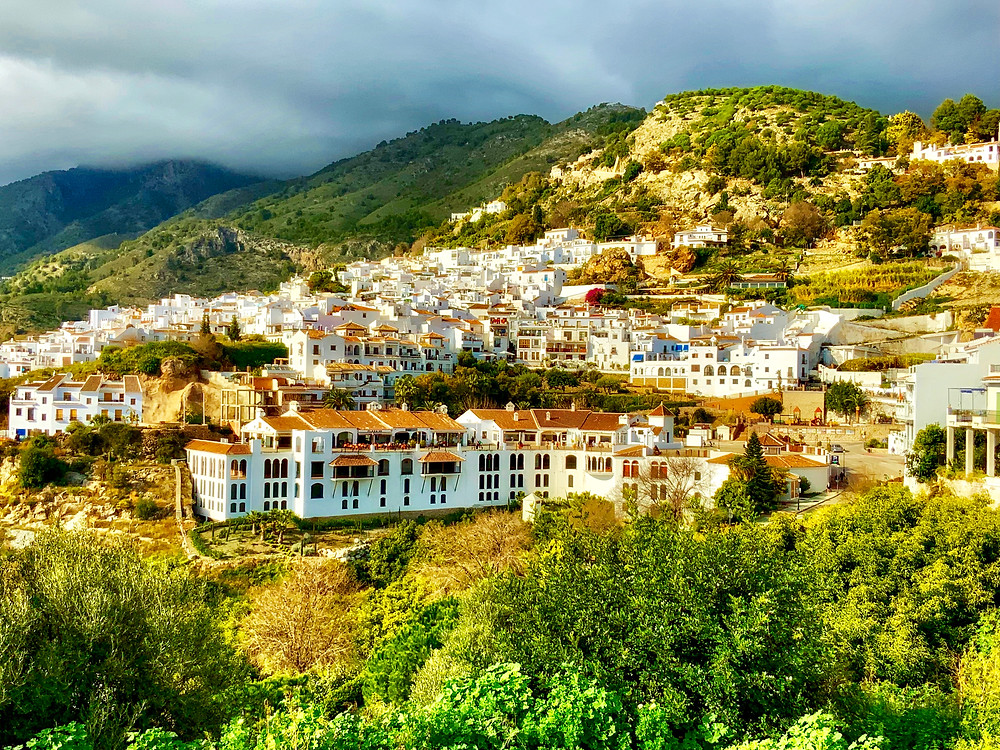 the whitewashed mountain village of Frigiliana Spain in Andalusia