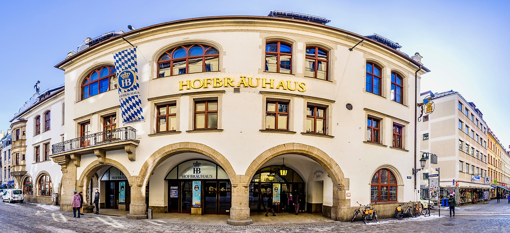 the famous Hofbrauhaus in Munich