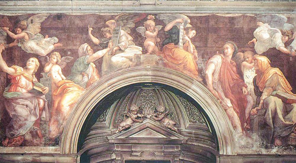 the Sibyls fresco by Raphael -- in Santa Maria della Pace