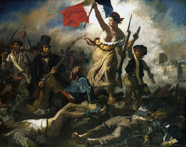 Eugene Delacroix's Liberty Leading the People, an emblem of the Romantic Period