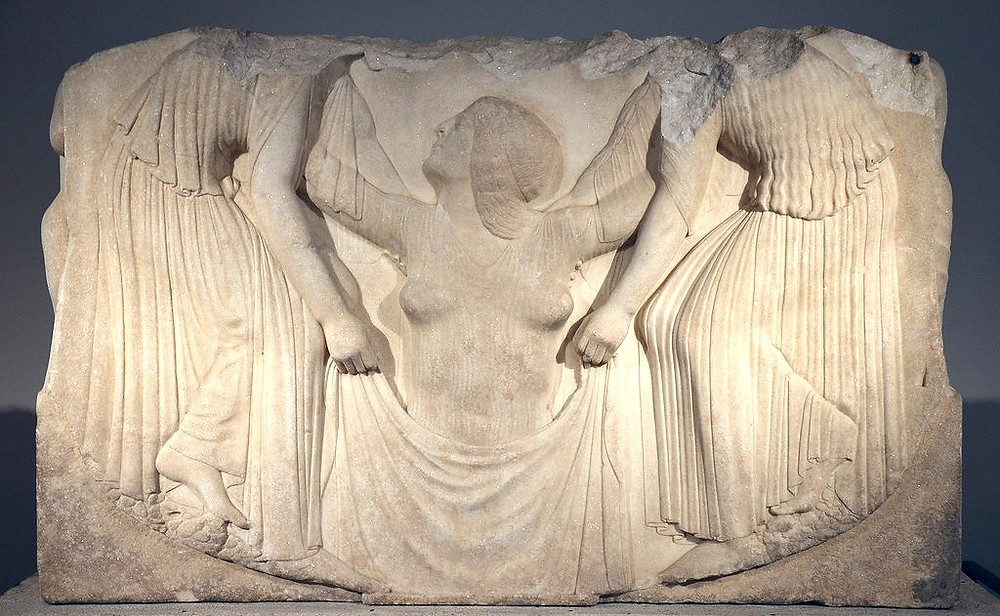 mid panel of the Ludovisi Throne, 460 B.C.