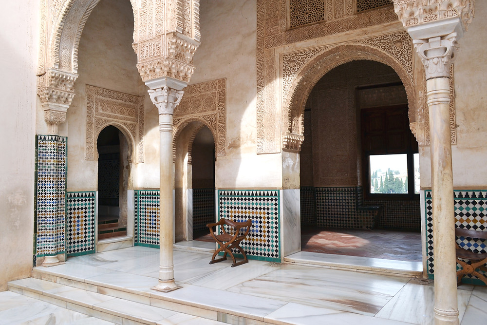 peaceful courtyard in the Nasrid Palace