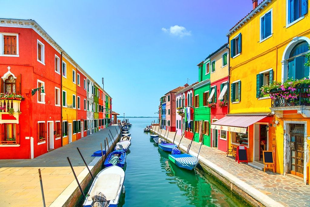colorful houses on the island of Burano