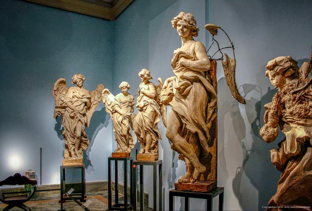 plaster casts of the Bernini angels