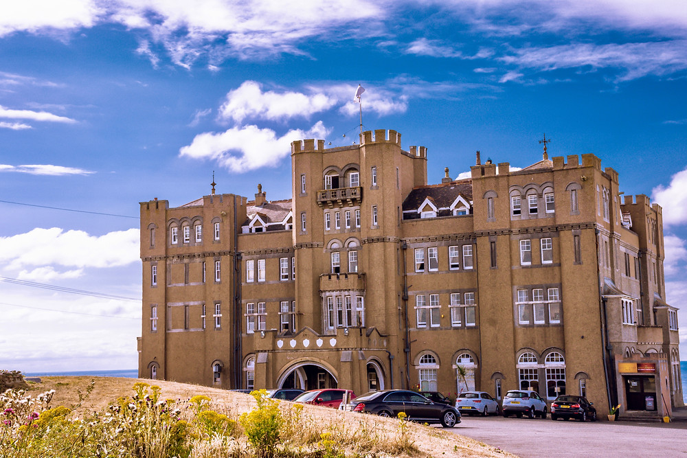 the Camelot Castle Hotel in the village of Tintagel in northern Cornwall