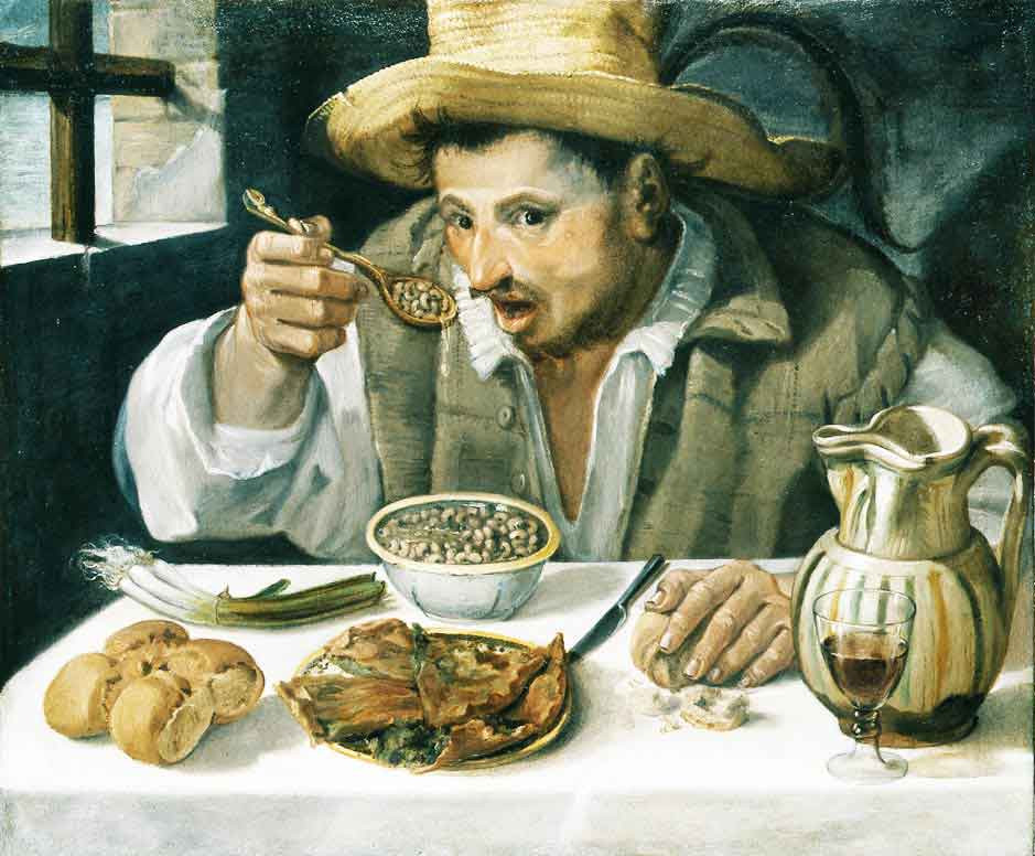 Annibale Carracci, The Bean Eater, 1585 -- the Palazzo Colonna's most famous painting