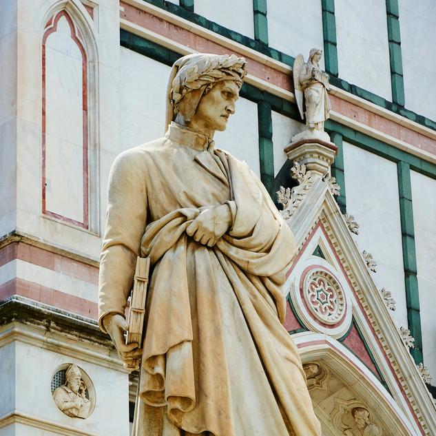 dante statue santa croce florence