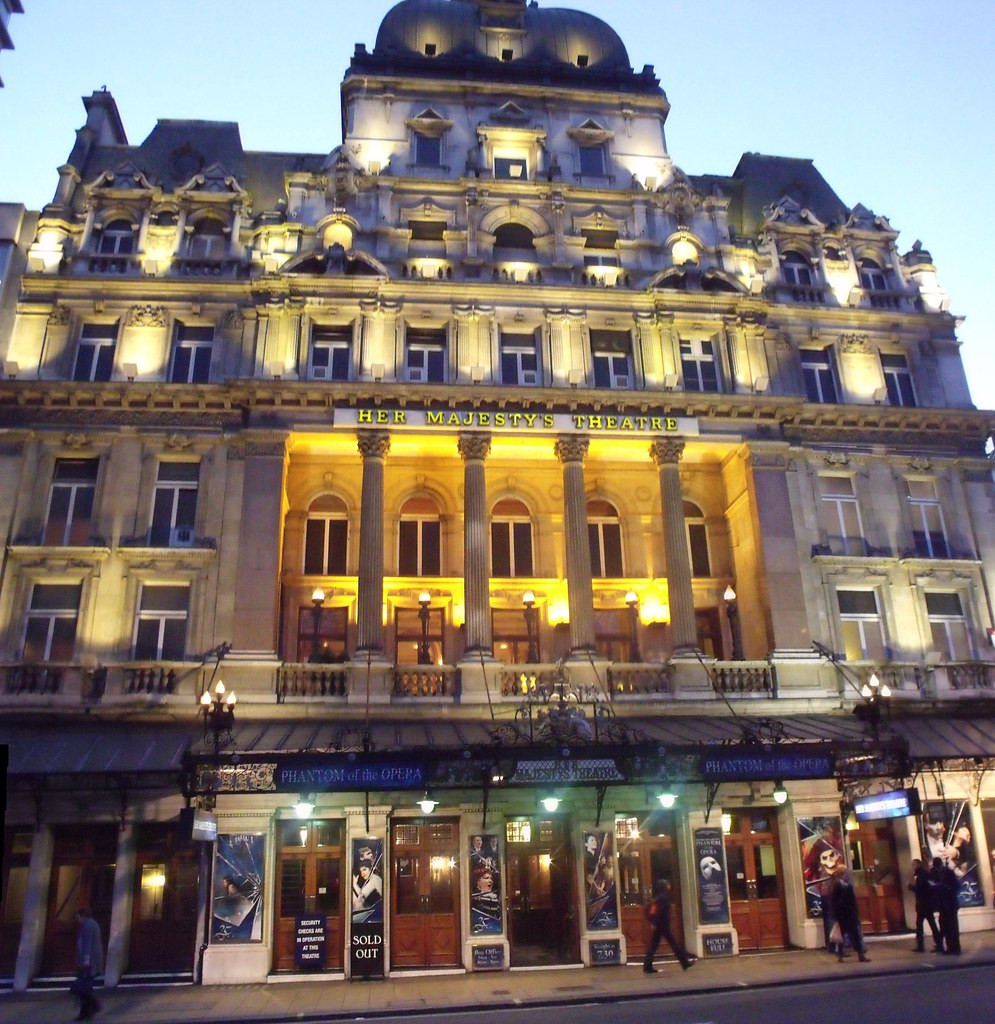 Her Majesty's Theater in London, where I lost saw the Phantom of the Opera musical in November 2018
