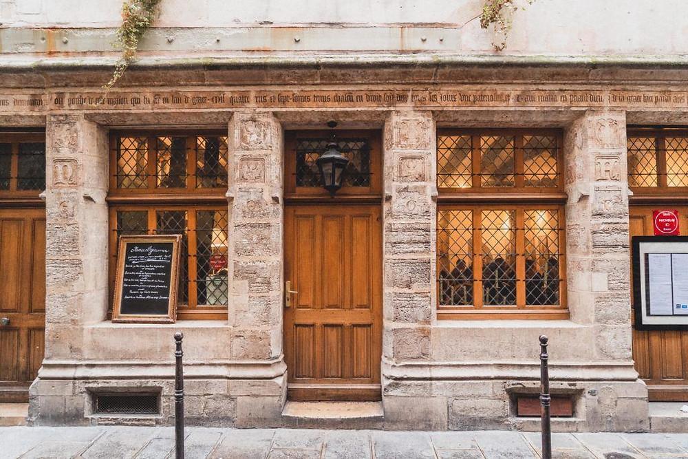 Auberge Nicolas Flamel, a restaurant in Paris' oldest building