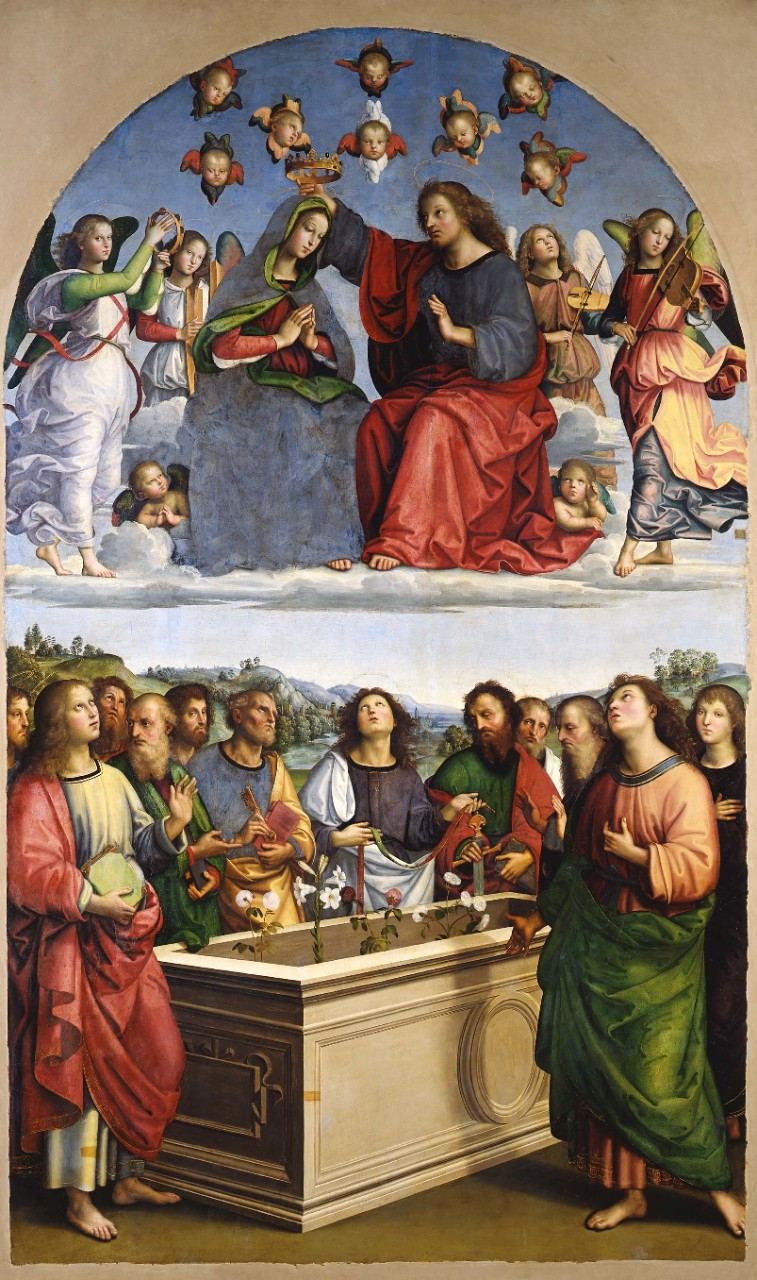Raphael, Coronation of the Virgin, 1502-04