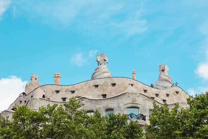 rooftop of La Pedrera