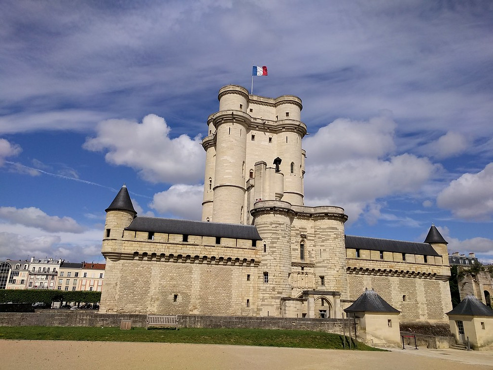 the Chateau de Vincennes fortress in the suburbs of Paris