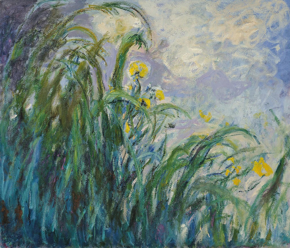 Monet, Field of Yellow Irises at Giverny, 1887