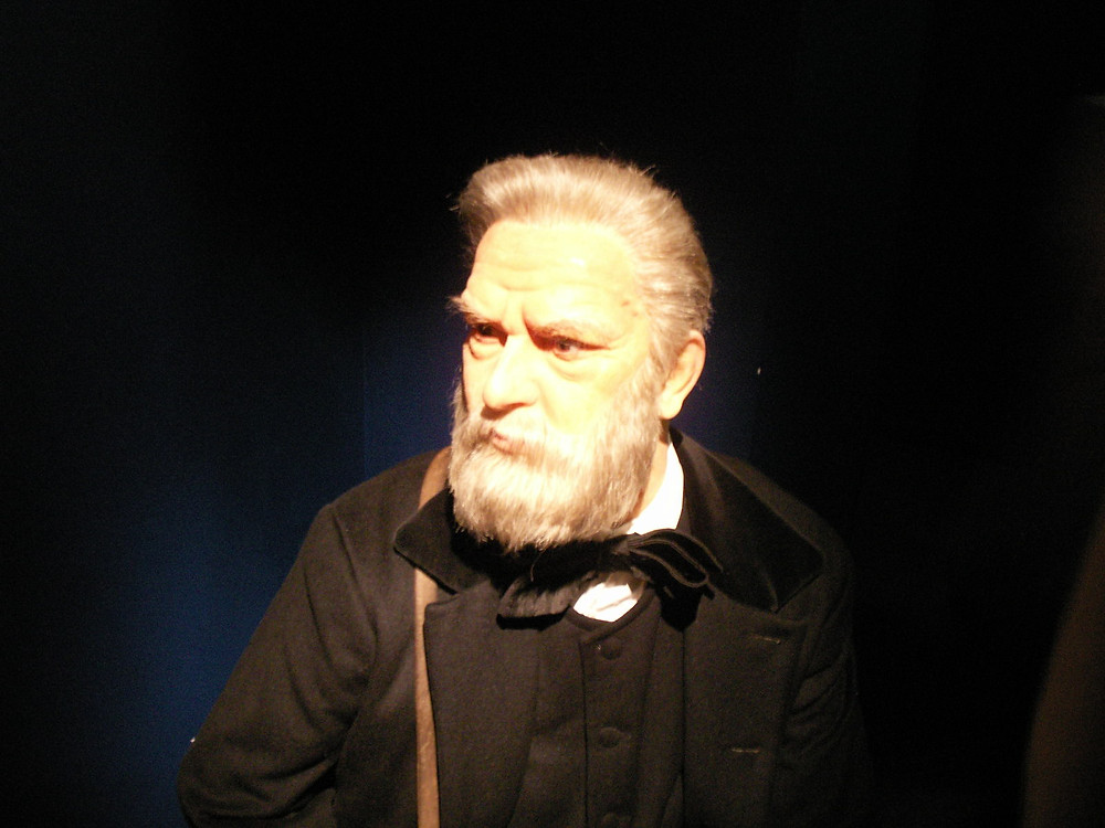 wax figure of Victor Hugo at the Grevin Museum in Paris