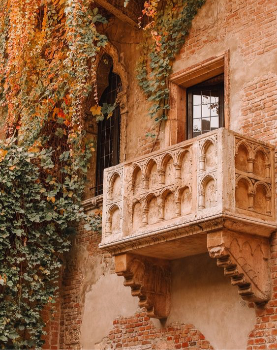 the balcony at Juliet's House in Verona