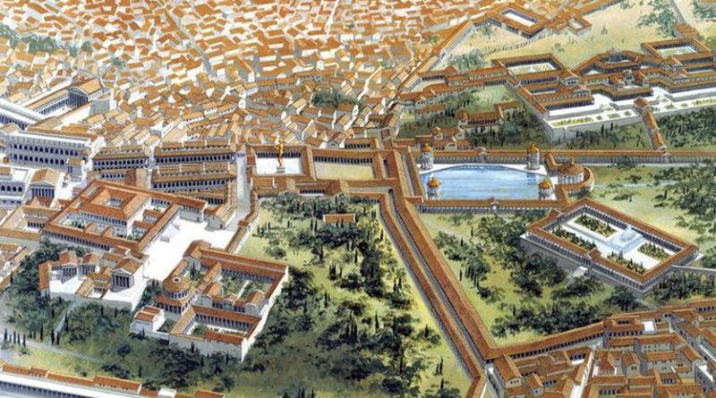 model of Nero's Domus Aurea